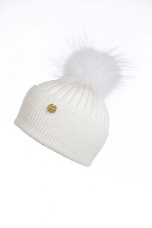 POPSKI LONDON Angora Pom Pom Hat - Frost