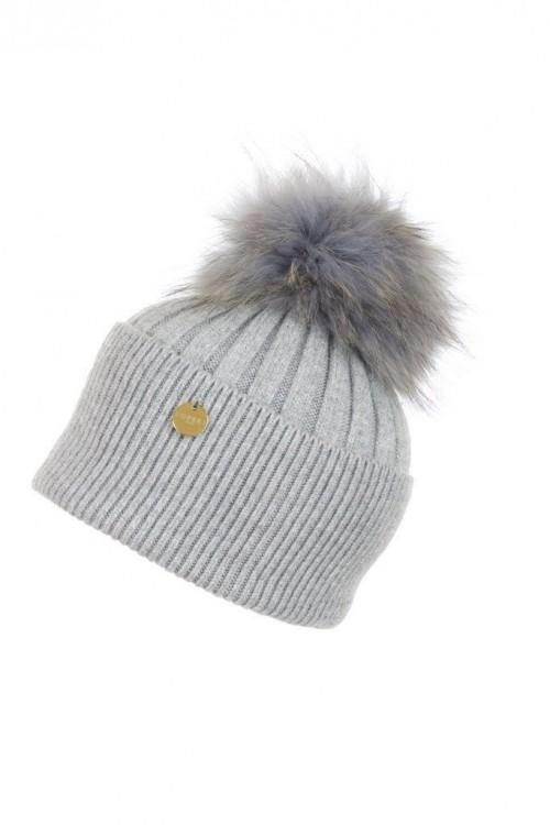 POPSKI LONDON Angora Pom Pom Hat - Whisper Grey