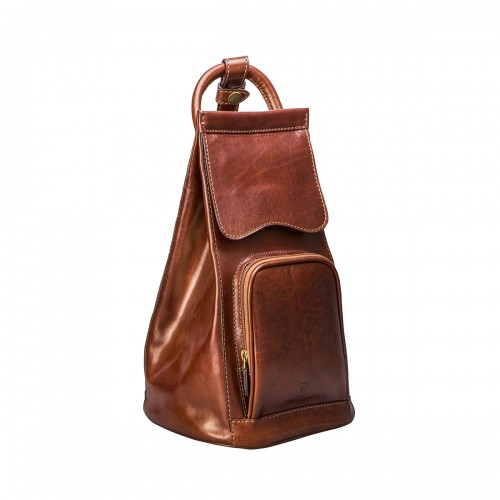 PREMIUM QUALITY WOMEN S TAN LEATHER SHOULDER BACKPACK