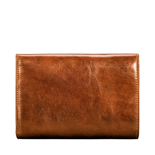 HANDCRAFTED LEATHER PURSE WITH POCKET IN TAN