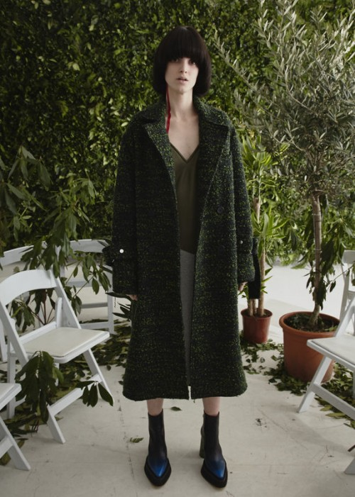 JAMIE WEI HUANG MOLLY COAT GREEN
