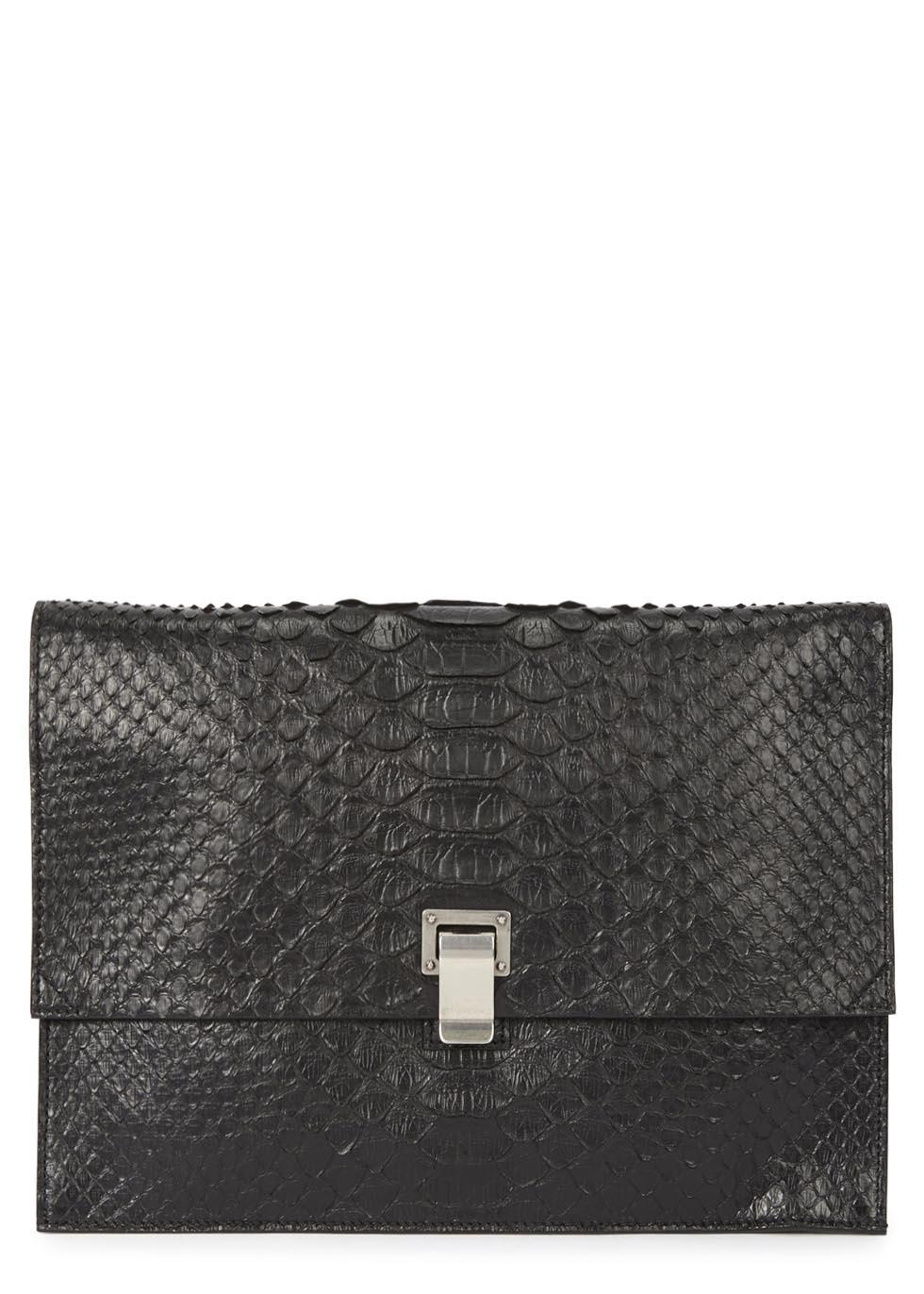 lunch bag large python clutch. Black Bedroom Furniture Sets. Home Design Ideas