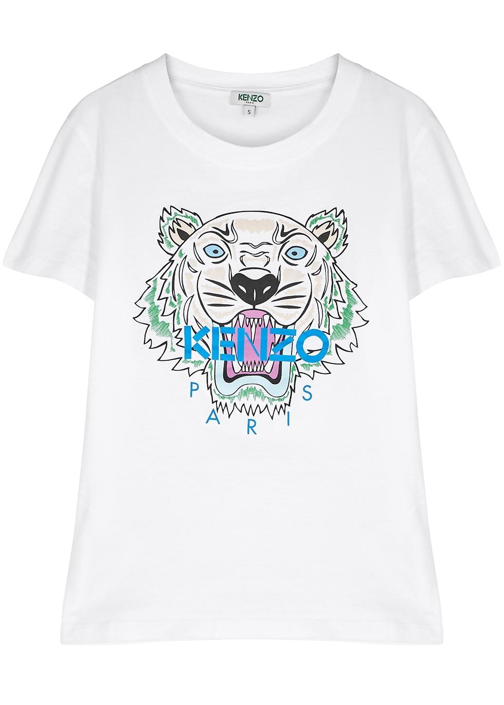5e4229e1 Kenzo Black tiger-print cotton T-shirt - Harvey Nichols