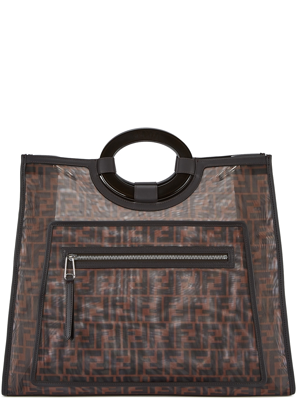 db4f2a63bc6a Fendi Kan I F medium leather shoulder bag - Harvey Nichols